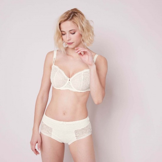 New Style - Authentic Guarantee - simone Perele Eden-Full bust half cup bra - Natural