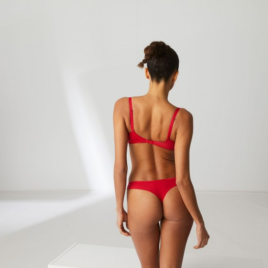 New Style - Authentic Guarantee - simone Perele ANDORA-Cotton thong - Ruby pink