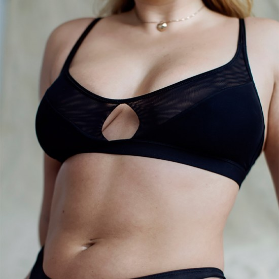 New Style - Authentic Guarantee - Moons and Junes- 'Audre Soft Bra Black'